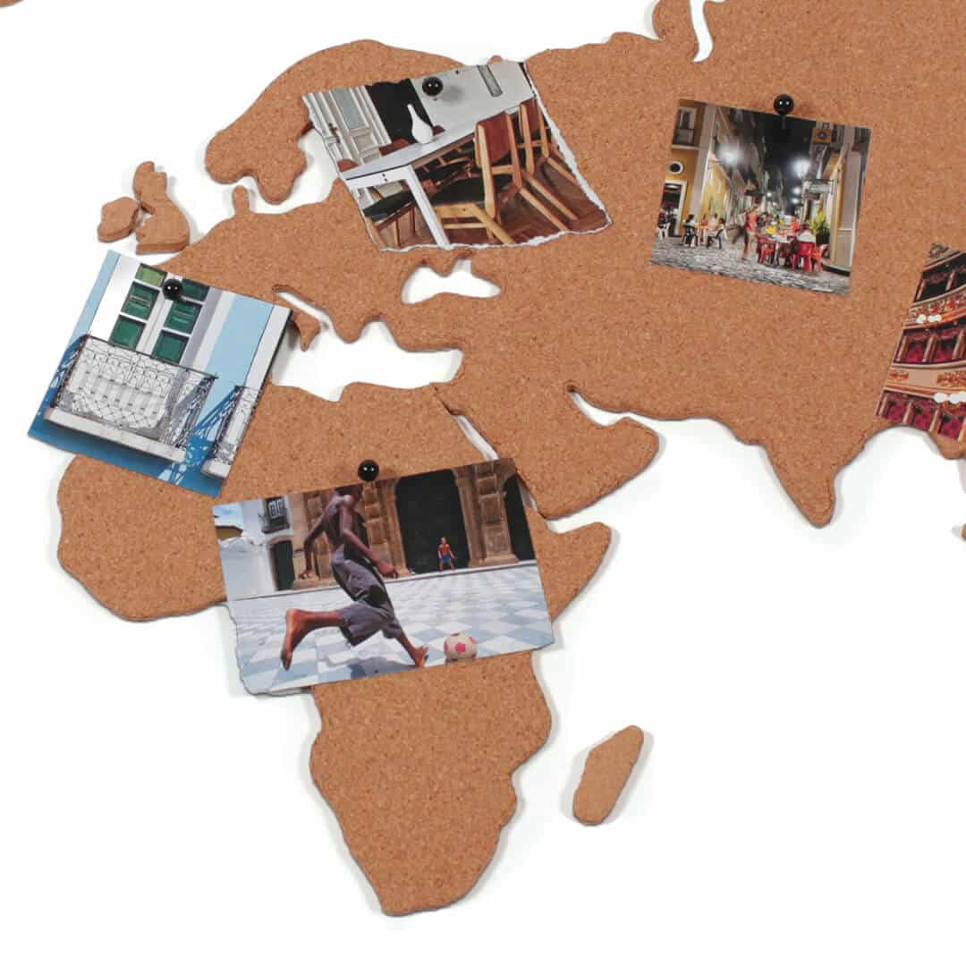 Corkboard Map Self Adhesive Map Of The World - Us travel map on cork board