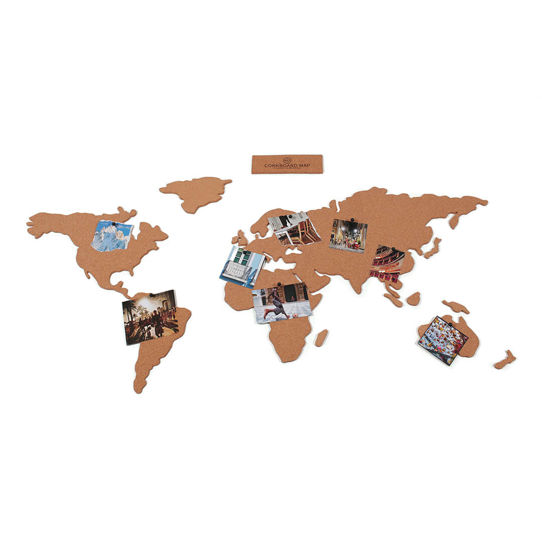 Corkboard map self adhesive map of the world email a friend gumiabroncs Gallery