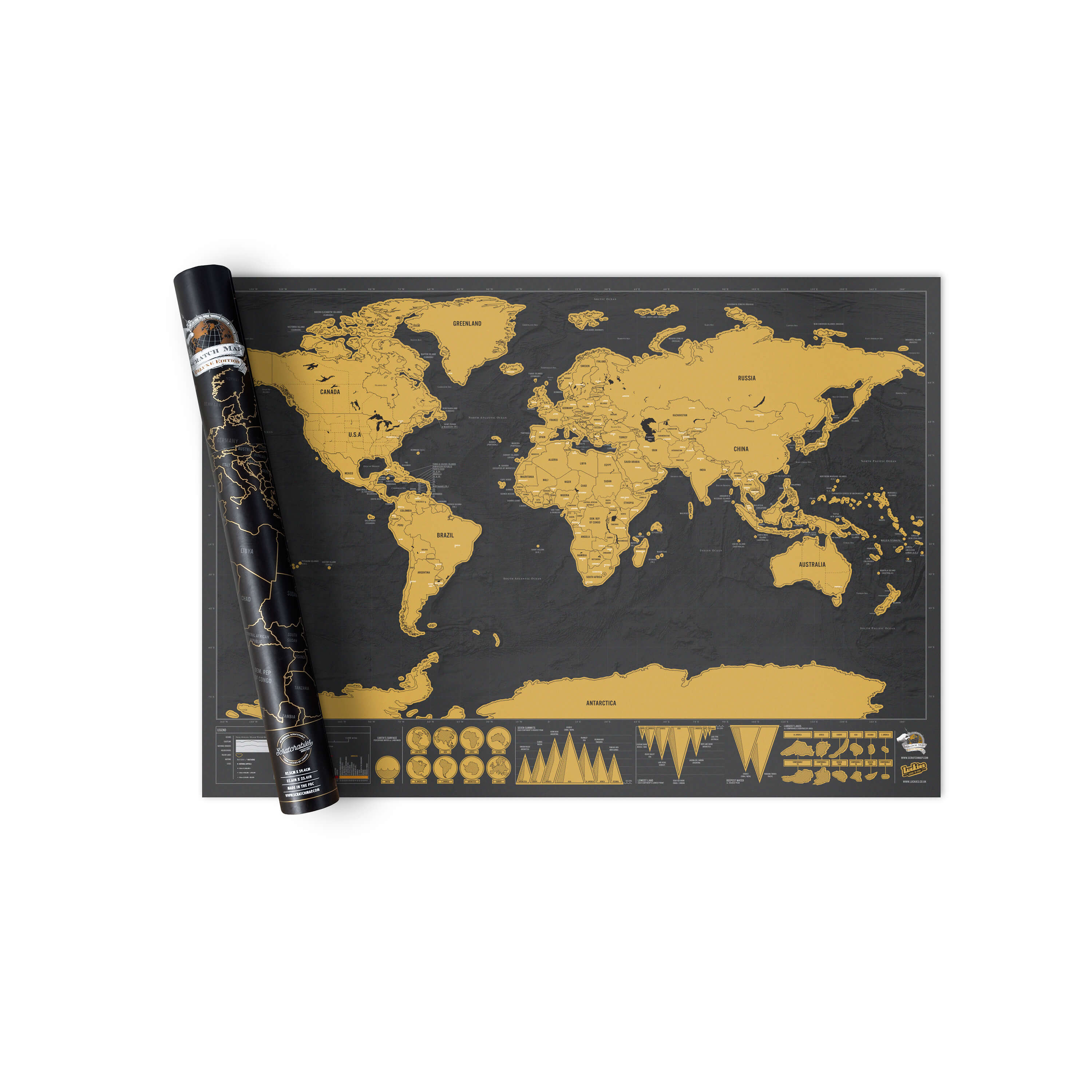 Scratch map maps personalised world map posters luckies scratch map deluxe gumiabroncs Images