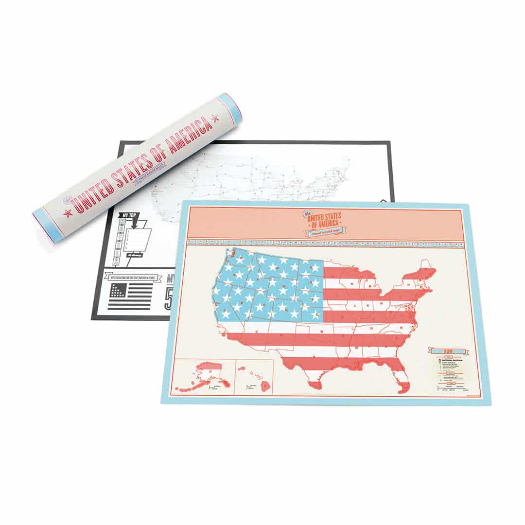 Scratch Map USA Travel poster – Luckies Travel Scratch Map