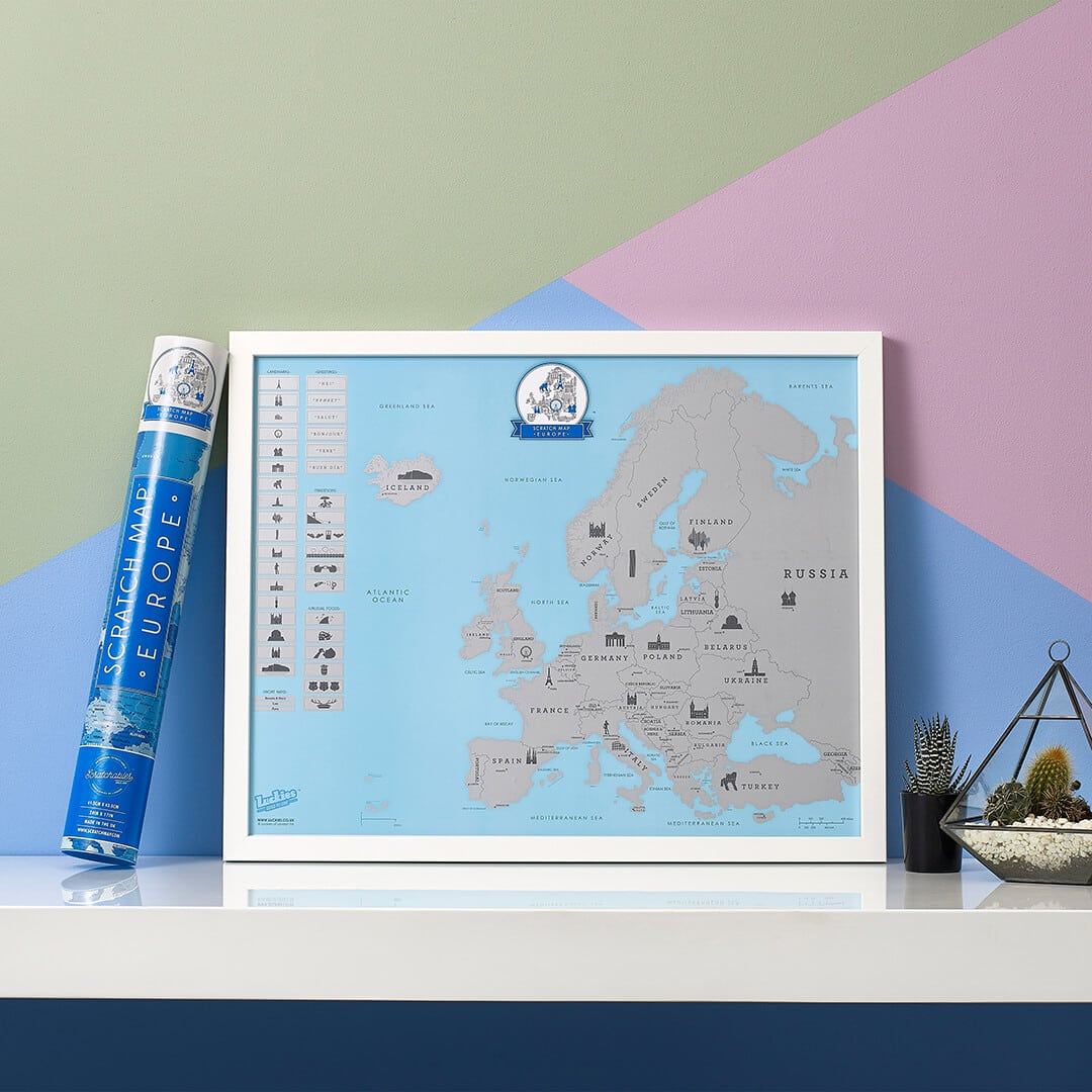 Scratch Map Europe by Luckies