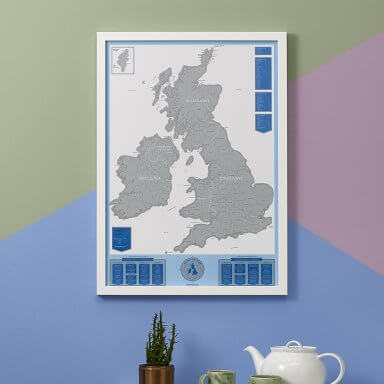 Scratch Map UK Ireland by Luckies