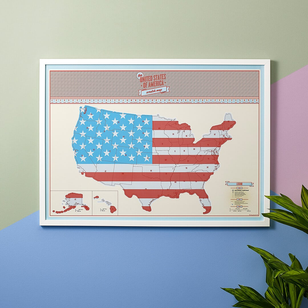 Scratch Map USA by Luckies