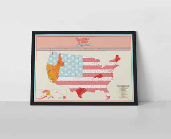 Scratch Map USA Travel by Luckies