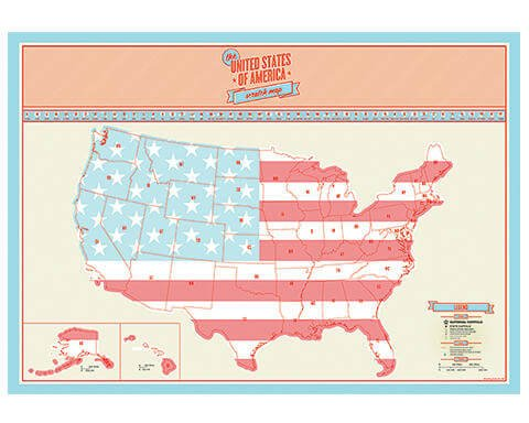 Scratch Map USA Edition