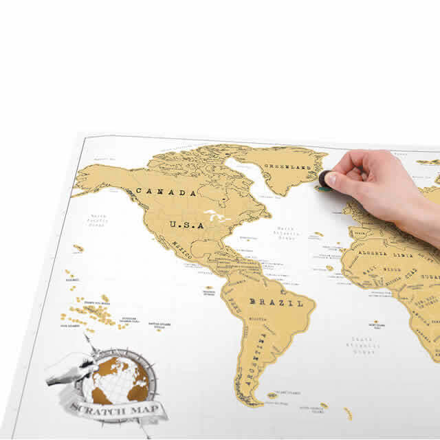 Scratch map original world map poster email a friend gumiabroncs Images
