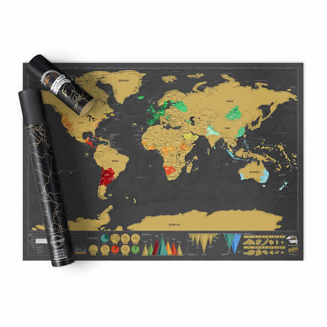 Scratch Map 174 Deluxe World Map Poster