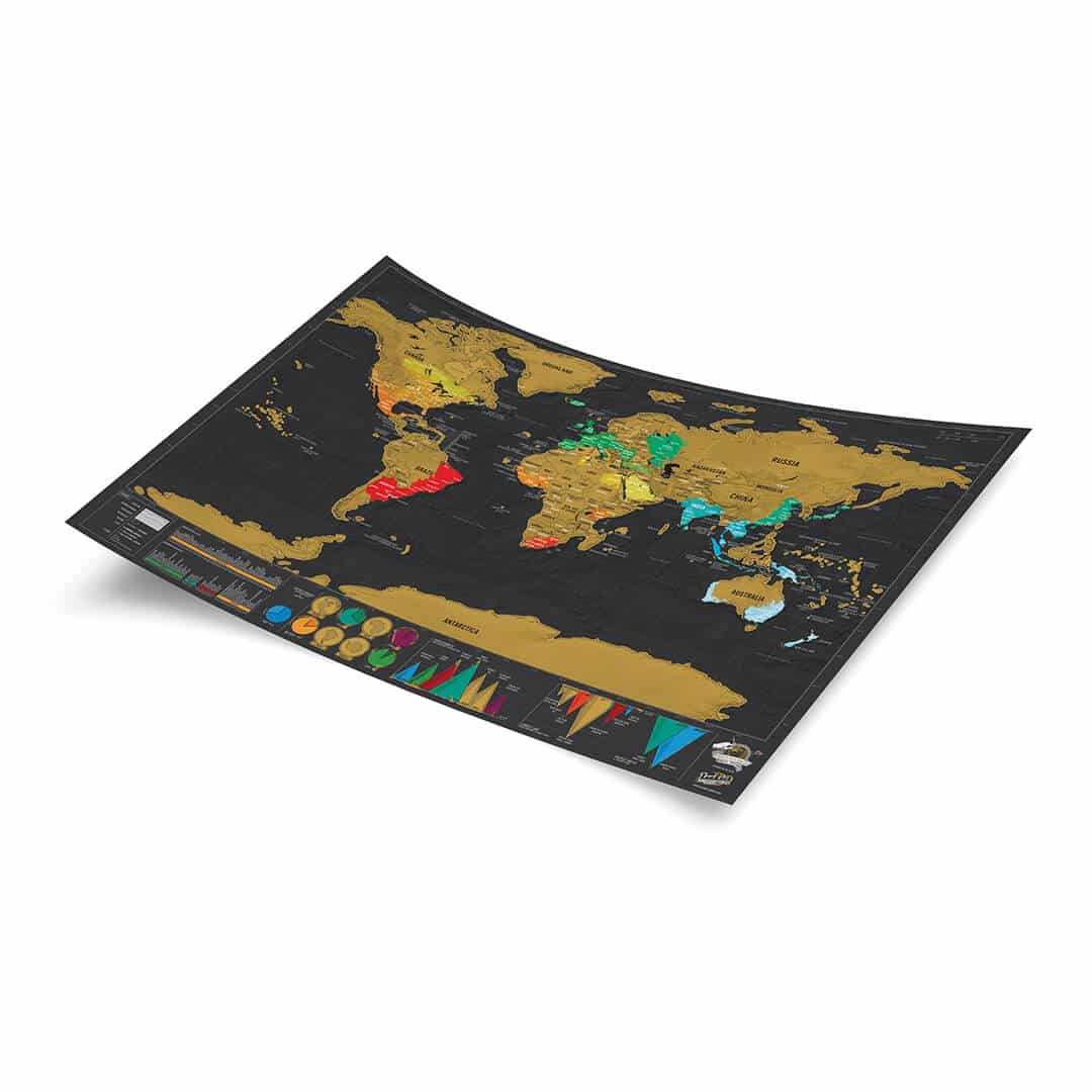 Scratch Map travel Deluxe Edition poster – Scratch Travel Map Of The World