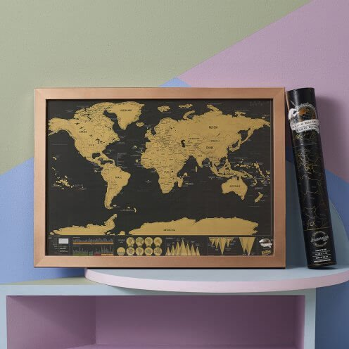 Scratch Map Deluxe Travel by Luckies