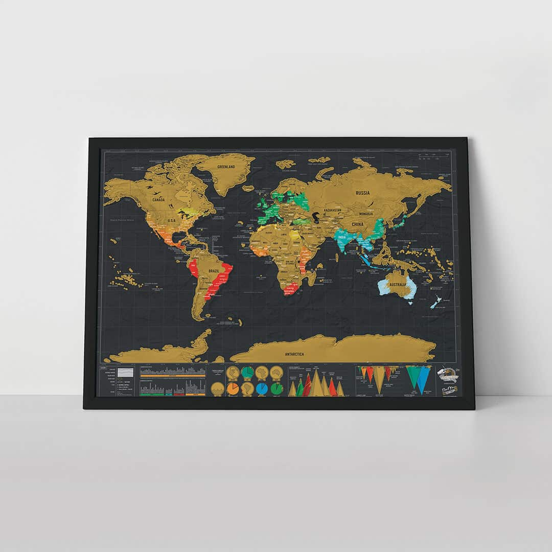 Scratch Map travel Deluxe Edition poster – Luckies Of London Scratch Map Travel Edition
