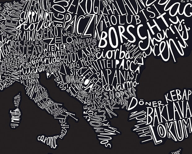 Gourmet Scratch Map europe