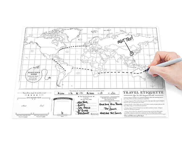 Scratch Map Travel Edition Back