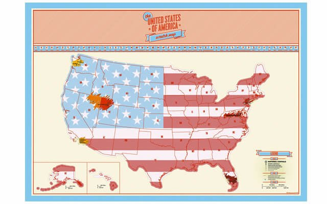 scratch off map usa