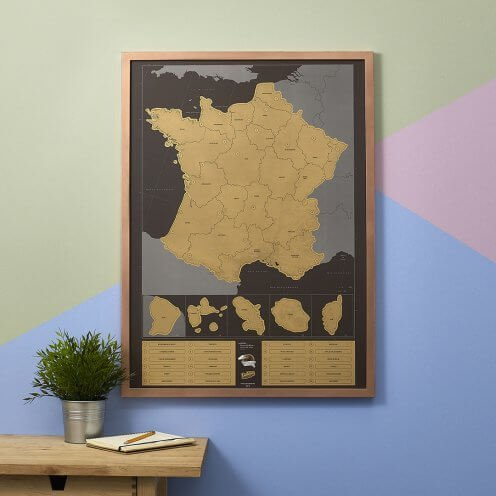 Scratch Map France by Luckies