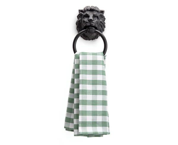 Lion's Head Towel Holder by Monkey Business