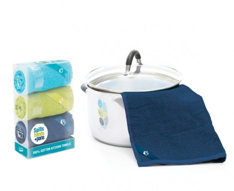 Tea towel set to dry spills, hands and pans by Luckies