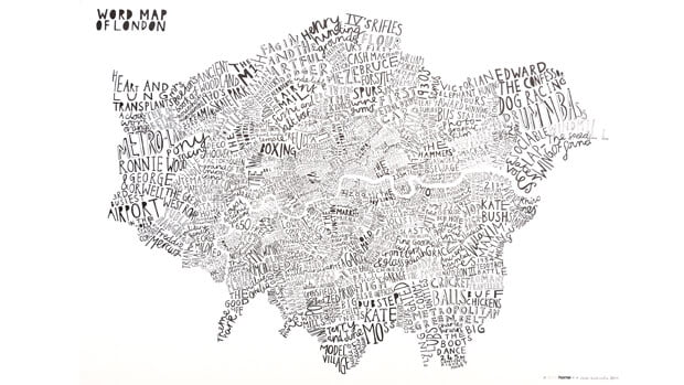 Word Map Art Print London