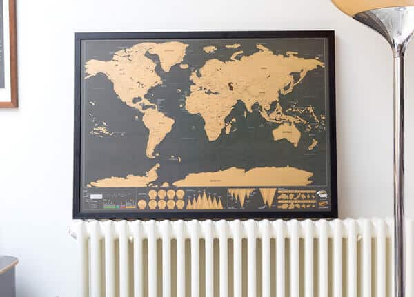 Introducing the framed scratch map deluxe poster from luckies gumiabroncs Image collections