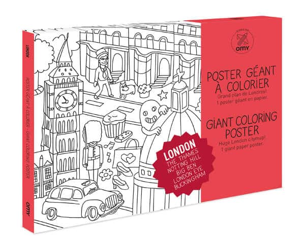 Giant Colouring Posters by OMY - London