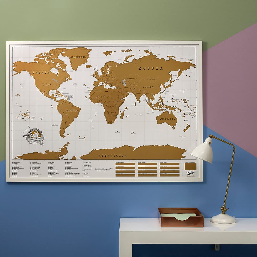 Large map of the world