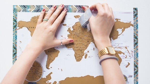 Scratch-Map-Travel-Framed-with-Washi-Tape-04