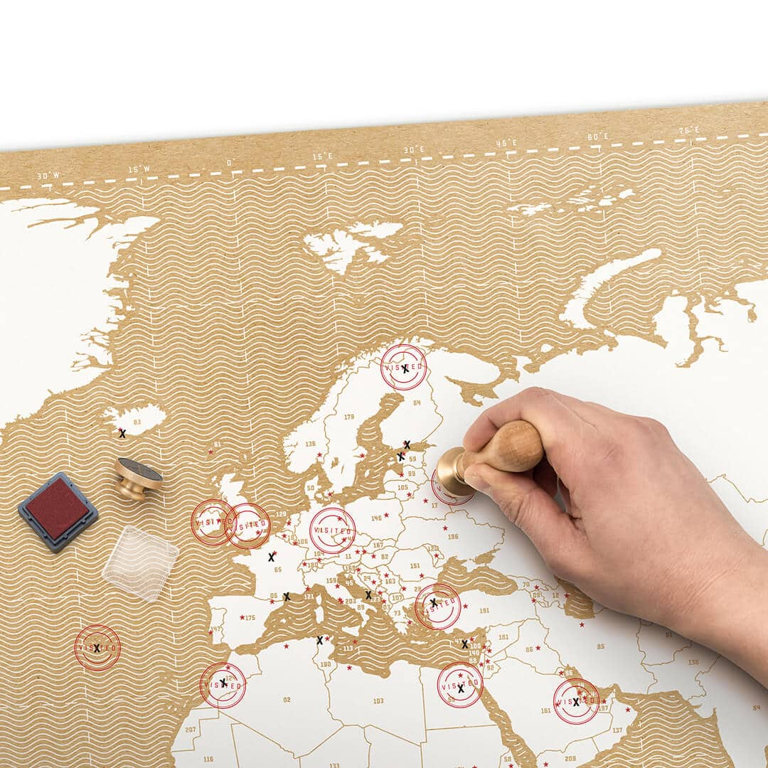 Stamp Map – Mark Your Travels Map