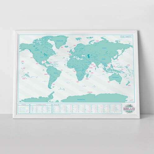 Scratch Map Hello by Luckies