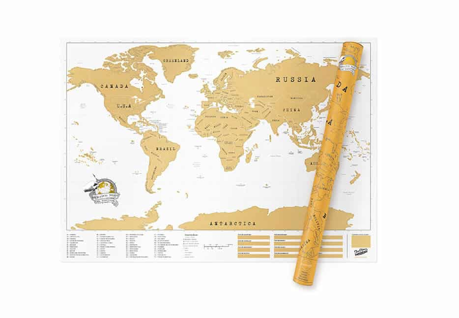 Large World Map Poster The Scratch Map XL - Big map of us poster