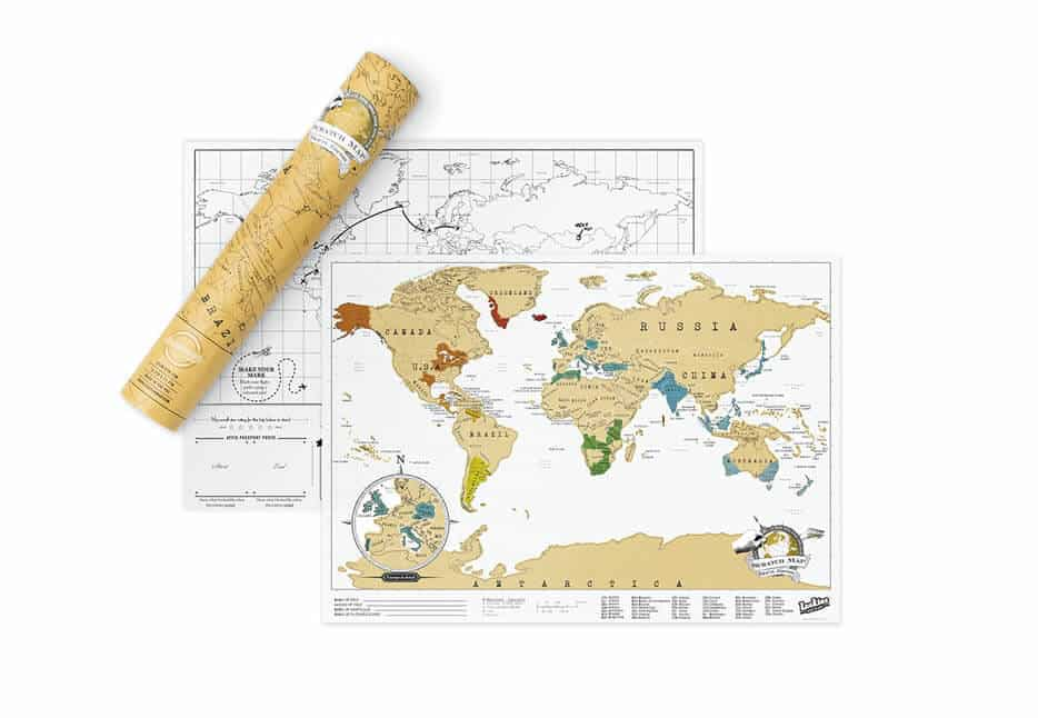 Scratch Off Where you've Been with The Scratch Map Travel Map