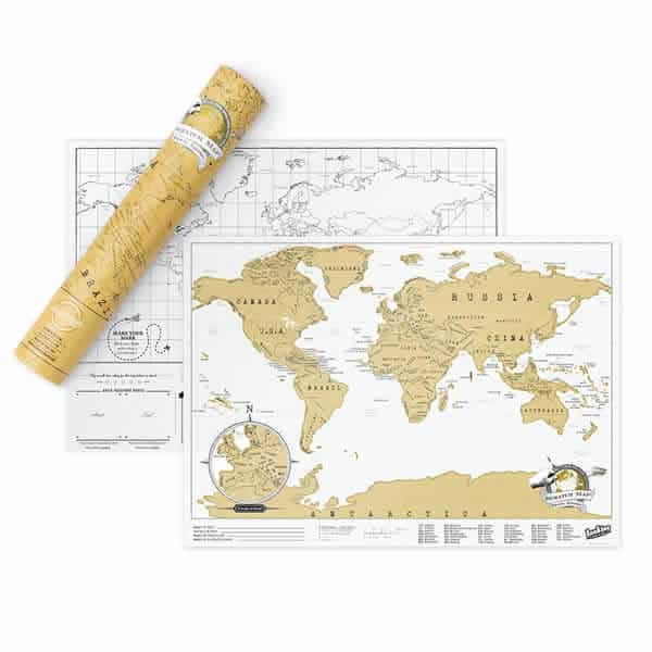 Scratch off travel edition map