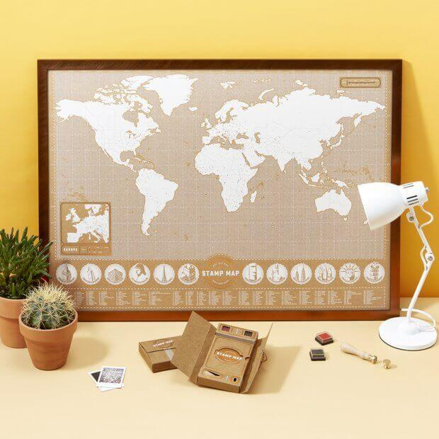 3 unique travel gifts and travelling ideas for the intrepid stamp map gumiabroncs Gallery