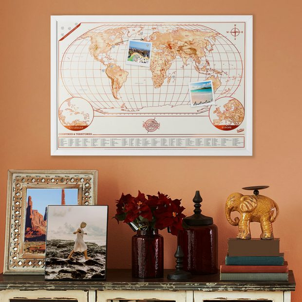 Magni map world map magnetic map poster luckies magnetic map poster gumiabroncs Gallery
